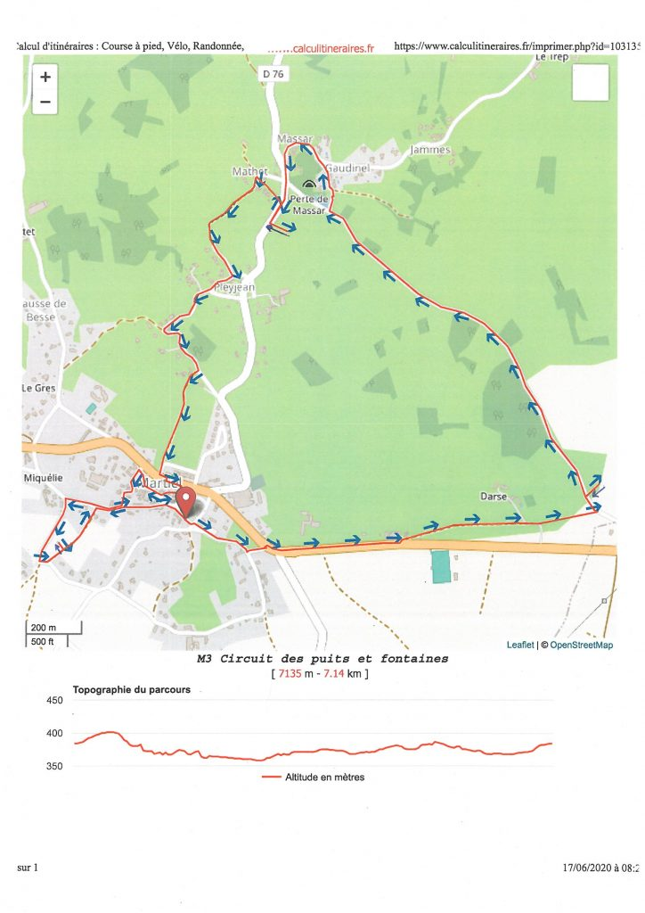 carte circuit M3 circuit puits et fontaines