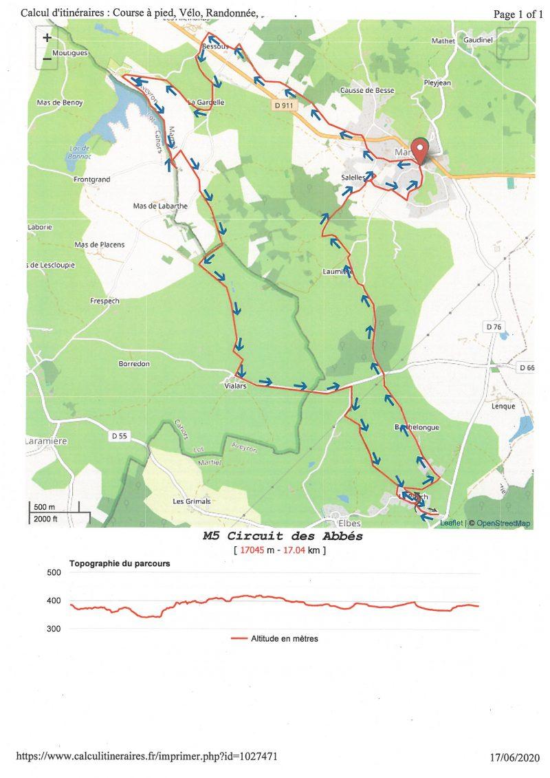 carte circuit M5 circuit des abbes