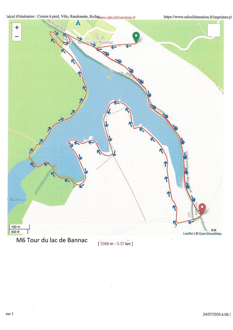 Tour du lac de bannac